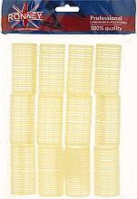Parfumuri și produse cosmetice Bigudiuri cu arici 32/63, galbene - Ronney Professional Velcro Roller