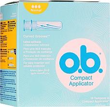 Parfumuri și produse cosmetice Tampoane, 16 bucăți - O.b. Compact Applicator Normal Tampons