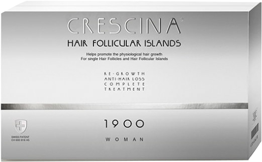 Complex tratament împotriva căderii părului, pentru femei, 1900 - Labo Crescina Hair Follicular Island Re-Growth Anti-Hair Loss Complete Treatment 1900 Woman