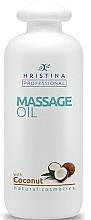 Parfumuri și produse cosmetice Ulei de cocos pentru masaj - Hristina Professional Coconut Massage Oil