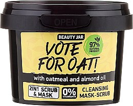 Parfumuri și produse cosmetice Mască-Scrub de curățare - Beauty Jar Vote For Oat! Cleansing Mask-Scrub