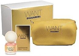 Parfumuri și produse cosmetice DSQUARED2 Want - Set (edp/50ml+cosmetic bag)