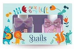 Parfumuri și produse cosmetice Set ojă de unghii pentru copii, 2x10,5ml - Snails Mini Bebe Music Is My Life