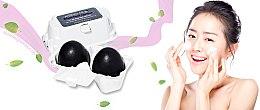 Săpun-mască cu cărbune pentru față - Holika Holika Charcoal Egg Soap — Imagine N2