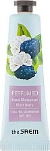 """Parfumuri și produse cosmetice Cremă parfumată pentru mâini """"Mure"""" - The Saem Perfumed Black Berry Hand Moisturizer"""