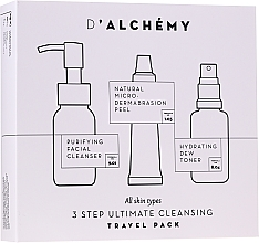 Parfumuri și produse cosmetice Set - D'Alchemy 3 Step Ultimate Cleansing Travel Pack (toner/30ml + f/cleanser/50ml + f/peel/15ml)