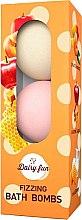 Parfumuri și produse cosmetice Bile efervescente pentru baie - Delia Dairy Fun Fizzing Bath Bombs