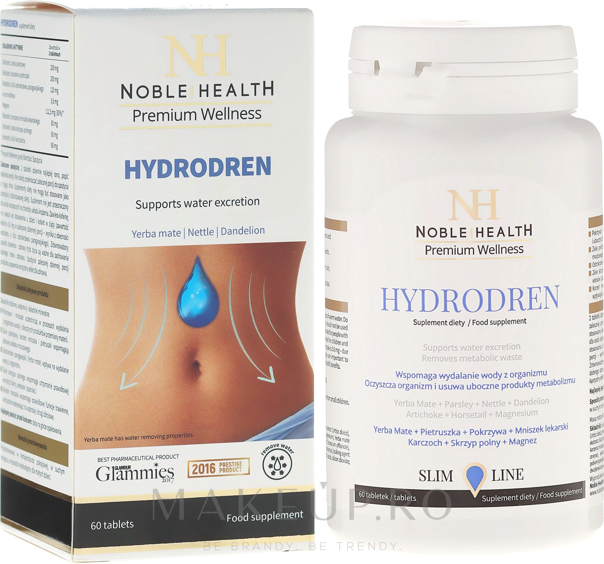 Suplimente nutritive - Noble Health Slim Line Hydrodren — Imagine 60 buc