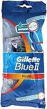 Parfumuri și produse cosmetice Set Aparat de ras de unică folosință, 5 buc - Gillette Blue II Plus