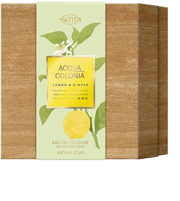 Maurer & Wirtz 4711 Aqua Colognia Lemon & Ginger - Set (col 170ml + soap/100g) — Imagine N1