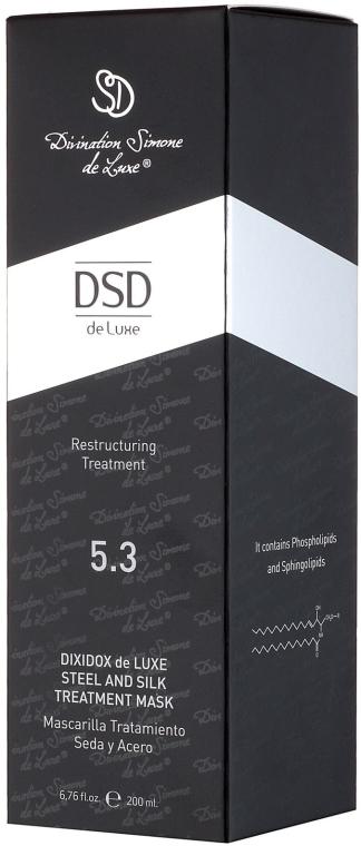 "Mască revitalizantă ""Silk"" Dixidox De Luxe N 5.3 - Divination Simone De Luxe Dixidox DeLuxe Steel and Silk Treatment Mask — Imagine N4"