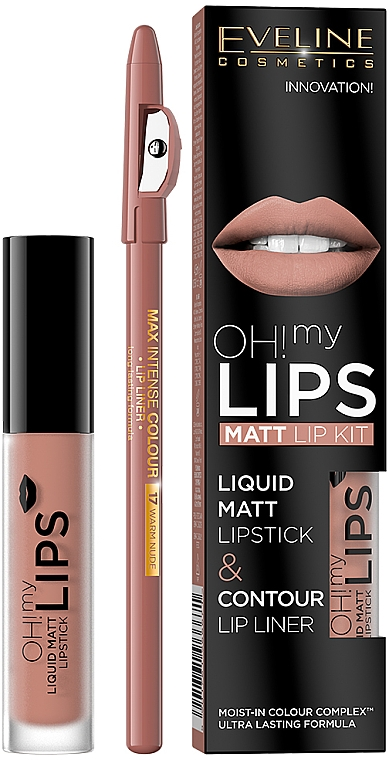 Set - Eveline Cosmetics Oh! My Lips (lipstick/4.5/g + l/pencil/1/g)
