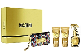 Parfumuri și produse cosmetice Moschino Gold Fresh Couture - Set (edp/100ml + b/lot/100ml + s/gel/100 ml + bag)