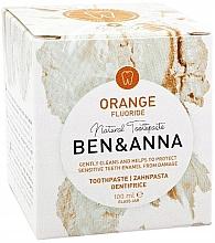 Parfumuri și produse cosmetice Pastă naturală de dinți - Ben & Anna Orange Fluoride Toothpaste