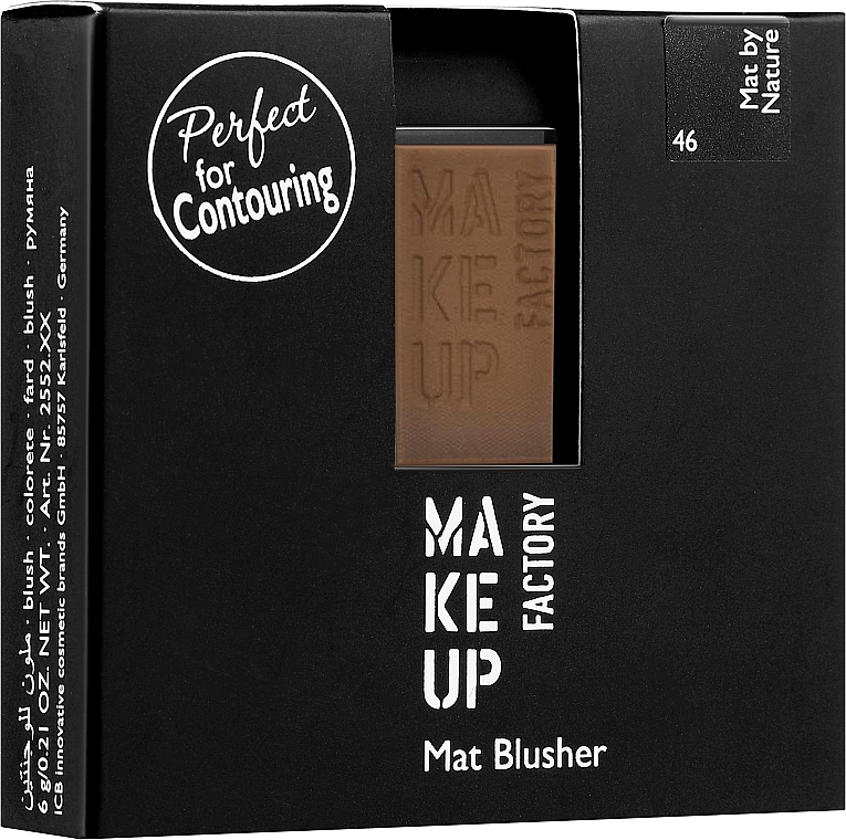 Fard matifiant de obraz - Make Up Factory Mat Blusher
