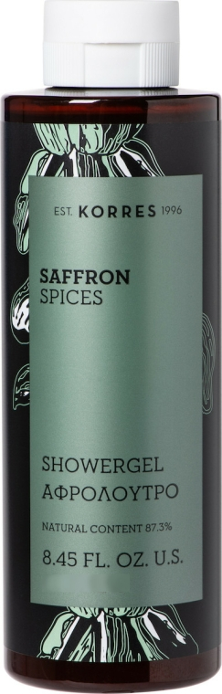 "Gel de duș ""Șofran și mirodenii"" - Korres Saffron and Spices Shower Gel — Imagine N1"