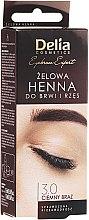 Parfumuri și produse cosmetice Gel vopsea pentru sprâncene, maro închis - Delia Eyebrow Tint Gel ProColor 3.0 Dark Brown