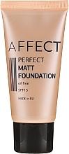 Parfumuri și produse cosmetice Fond de ten matifiant - Affect Cosmetics Perfect Matt Foundation