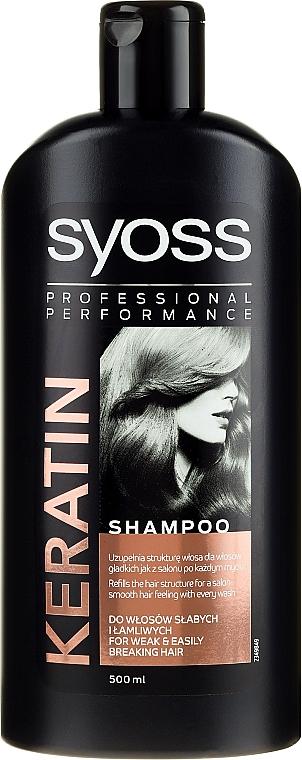 Șampon pentru păr uscat și lipsit de viață - Syoss Keratin Hair Perfection — Imagine N1