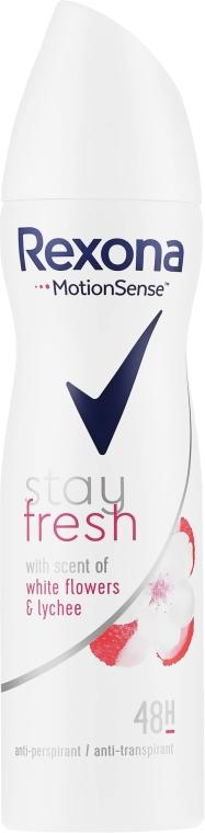 Antipersperant-spray - Rexona Stay Fresh White Flowers & Lychee Spray