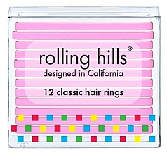 Parfumuri și produse cosmetice Set elastice de păr - Rolling Hills Classic Hair Rings Pink