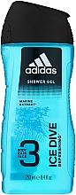 Parfumuri și produse cosmetice Gel de duș - Adidas Ice Dive Body, Hair and Face Shower Gel
