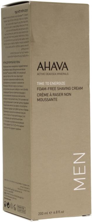 Cremă de ras, fără spumă - Ahava Men Time To Energize Foam Free Shaving Cream — Imagine N1