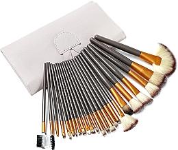 Set pensule pentru machiaj, 24 bucăți - Lewer — Imagine N2
