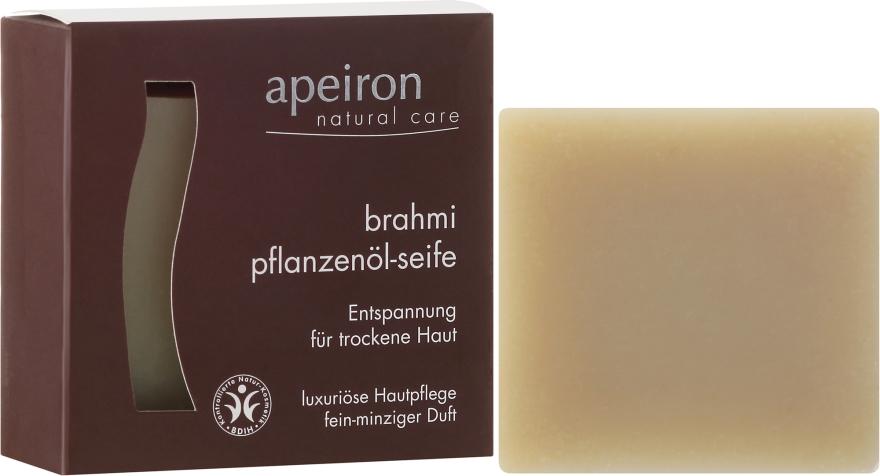 """Săpun natural """"Brahmi"""" pentru pielea uscată - Apeiron Brahmi Plant Oil Soap — Imagine N1"""