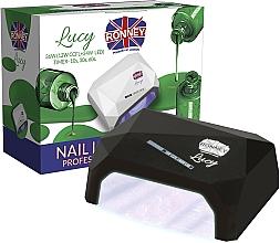 Parfumuri și produse cosmetice Lampă CCFL+LED, neagră - Ronney Professional Lucy CCFL + LED 38W (GY-LCL-021) Lamp