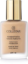 Parfumuri și produse cosmetice Fond de ten - Collistar Perfect Wear Foundation SPF 10