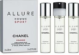 Parfumuri și produse cosmetice Chanel Allure Homme Sport Cologne - Koln (+ 2 rezerve)
