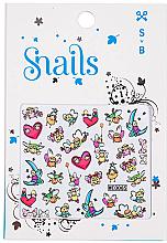 Parfumuri și produse cosmetice Abțibilduri de unghii - Snails 3D Nail Stickers (10buc.)