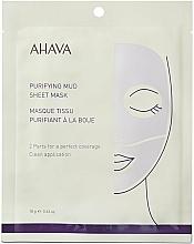 Parfumuri și produse cosmetice Mască de curățare din țesătură pentru față - Ahava Purifying Mud Sheet Mask