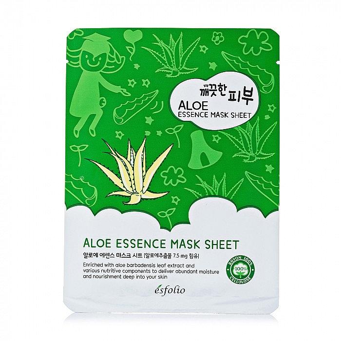 Mască din țesătură cu aloe - Esfolio Pure Skin Aloe Essence Mask Sheet