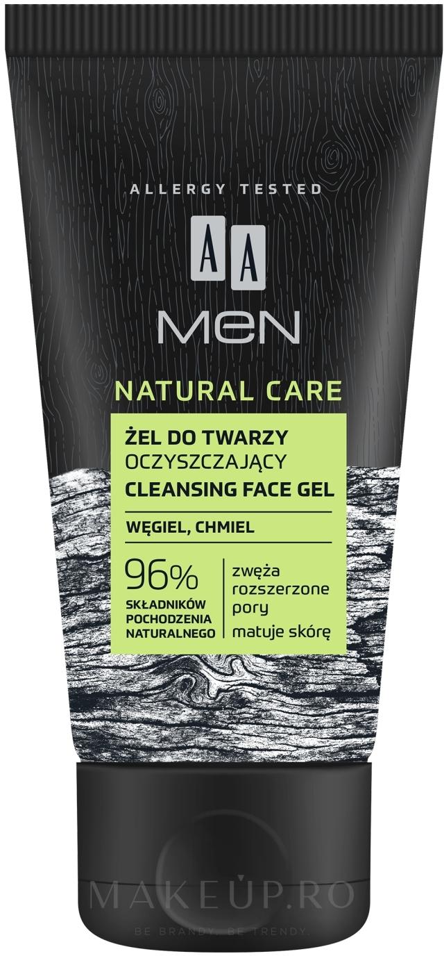 Gel de duș - AA Men Natural Care Cleansing Face Gel — Imagine 150 ml