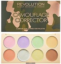 Parfumuri și produse cosmetice Paletă cu corectoare colorate cremoase - Makeup Revolution Camouflage Corrector Palette