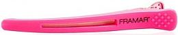 Parfumuri și produse cosmetice Agrafă pentru păr cu inserție elastică, roz - Framar Elastic Sectioning Hair Clips