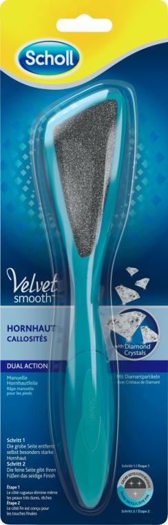Pilă dublă pentru pedichiură - Scholl Velvet Smooth Dual Action — Imagine N1