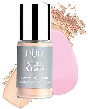 Parfumuri și produse cosmetice Concealer - Pur Shake & Bake Powder-to-Cream Under Eye Concealer