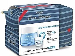 Parfumuri și produse cosmetice Set - Vichy Aqualia Thermal For Dry Skin (cr/50ml + cr/15ml + bag)