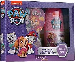 Parfumuri și produse cosmetice Set - Uroda Paw Patrol Girl (sh/gel/250ml + sponge + stickers)