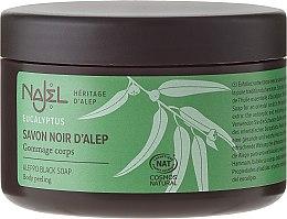 """Parfumuri și produse cosmetice Săpun de Alep """"Black"""" - Najel Black Aleppo Soap Eucalyptus Body Peeling"""