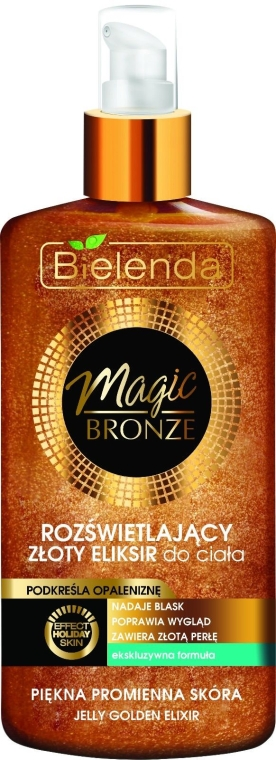 Elixir iluminator pentru corp - Bielenda Magic Bronze Illuminating Golden Body Elixir — Imagine N1