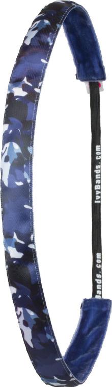 """Bandă de cauciuc pentru păr """"Military/Blue"""" - Ivybands — Imagine N1"""