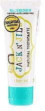 Parfumuri și produse cosmetice Pastă de dinți naturală cu gust de afine - Jack N' Jill Natural Toothpaste Blueberry