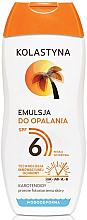Parfumuri și produse cosmetice Emulsie pentru bronz - Kolastyna Suncare Emulsion SPF6
