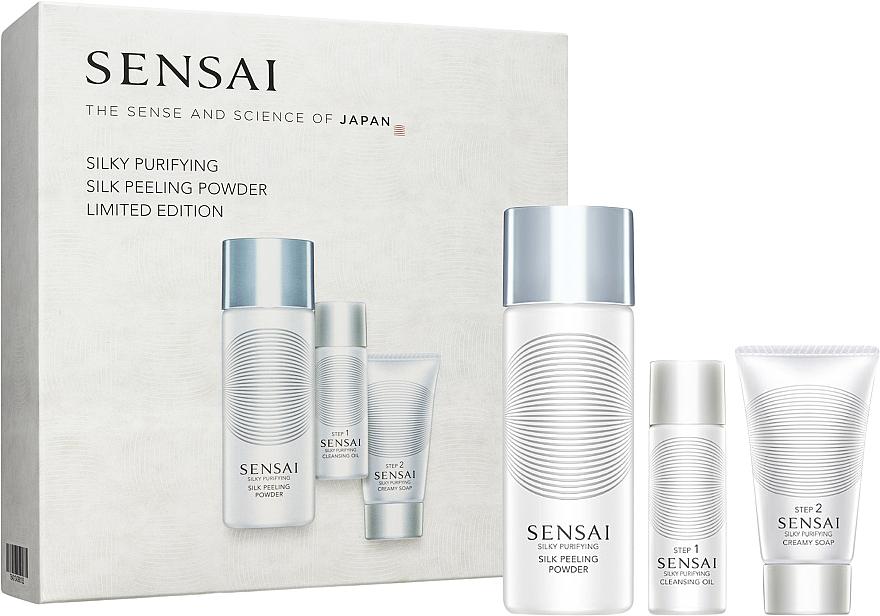 Set - Sensai Silky Purifying Silk Peeling Powder Limited Edition (scrub/40ml + oil/30ml + soap/30ml) — Imagine N1