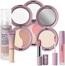 Parfumuri și produse cosmetice Set - Paese 12 Nanorevit (found/35ml + conc/8.5ml + lip/stick/4.5ml + powder/9g + cont/powder/4.5g + powder/blush/4.5g + lip/stick/2.2g)