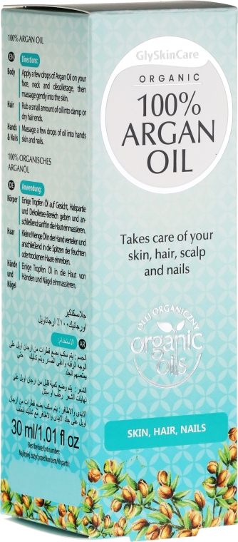 Ulei de argan pentru față - GlySkinCare 100% Argan Oil — Imagine N5